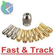 SET Pinze Dremel Collet 10pcs 0.5-3.2mm 4.3mm Shank Metal Drill Chuck Bits