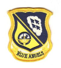 "USN Navy Patch:  Blue Angels Flight Demo Team - 2 3/4"", dark blue"