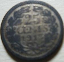 1913 Netherlands 25 CENTS SILVER COIN (RJ670