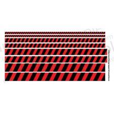 Ginfritter's Gnomish Workshop WARN001 Warning Stripe Decal Black & Red