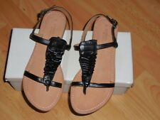 Sandales en cuir noir 37 La Redoute création neuves