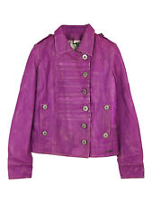 NEW Pepe Jeans pink sheep leather jacket