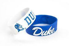 Duke Blue Devils Wrist Bands Logo Bracelets 2 Pack PVC Silicone Rubber