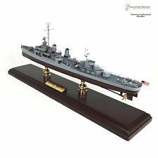 """Usn Fletcher Class Destroyer Dd/Dde-445 Built 23.5"""" Wooden Model Ship Assembled"""