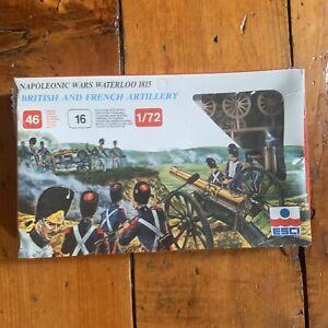 Esci Napoleonic Wars Waterloo 1815 British And French Artillery 1/72