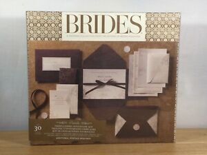 BRIDES MAGAZINE- 30 Ct Invitation Kit Printable Embellished (Brown) - NEW