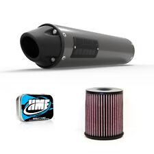 HMF Yamaha YFZ 450 2004 - 2011 Slip On Blackout Exhaust Muffler + Jet Kit + K&N