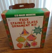 Kid Made Modern Faux Stained Glass Ornament Kit – Brand New