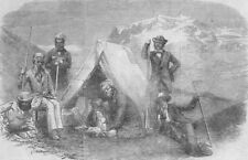 FRANCE. Ascent of Mont Blanc without guides-Night encampment on the snow, 1855