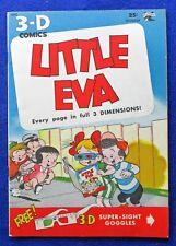 Little Eva #1 3-D glasses included High Grade 1953  Golden Age