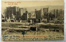 POSTCARD 1906 EARTHQUAKE SAN FRANCISCO IN RUINS MARKET JONES STREETS #c1