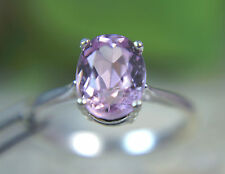 KUNZITE - Genuine Elegant Lilac-to-Pink .925 Sterling Silver Ring 2.33ct