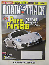 Road and Track Magazine  Oct. 2011  Pikes Peak Hill Climb In Less Than 10 Mins.