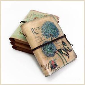 Retro Vintage PU Leather Cover Notebook Travel Journal Diary Jotter Sketchbook