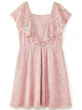 Yumi Girl Metallic Antique Lace Dress / Dusty Pink 5-6 Years Brand New RRP 34£