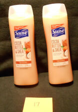 Suave Lot of 2 Cocoa Butter and Shea Body Wash 15 oz Each New O17