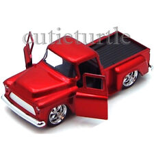 Jada Just Trucks 1955 Chevy Stepside Pickup Truck 1:32 Diecast Toy Car Red
