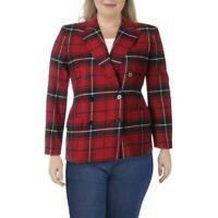 Lauren Ralph Lauren Womens Ryen Wool-Blend Double-Breasted Blazer BHFO 2213