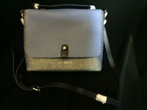 TED BAKER Blue Leather Tote Handbag New with Tags