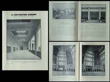 LA CONSTRUCTION MODERNE 1931 CITE INFORMATIONS, EXPO COLONIALE, BOURGON BOUCHAUD