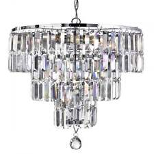 SEARCHLIGHT EMPIRE 5 LIGHT CRYSTAL CHANDELIER IN CHROME FINISH 1375-5CC