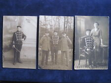 3 Fotos mit Husar,Husar mit Säbel in Paderborn,Sennelager,Senne 1915