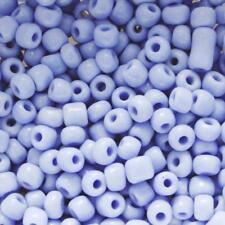 Perles de Rocailles Tubes en verre Opaque 9x2mm Bleu ciel 20g