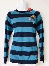 Ben Sherman Mens Jumper Sweater Top Sz Xl Striped Navy Blue
