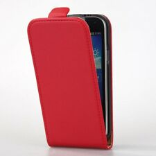 Red PU Flip Wallet Leather Case for Samsung Galaxy S4 Mini I9190