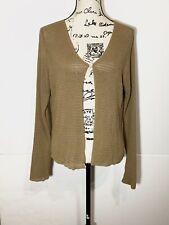 Emanuel Ungaro Button Cardigan Size L Brown Stretch Knit