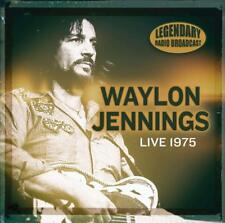 WAYLON JENNINGS - LIVE 75 -LEGENDARY RADIO BROADCAST   CD NEW!
