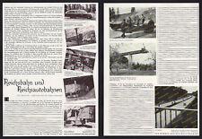 orig. Fotobericht Bau der Reichsautobahnen Rudolphi Organisation Reichsbahn 1935