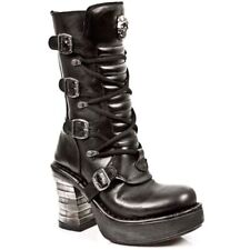 NEWROCK M.8373 S1 Black - New Rock Punk Gothic Biker Boots - Womens