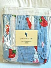 "PotteryBarn Kids ""Sweet Strawberry"" Twin Cotton Bed Skirt NIP"