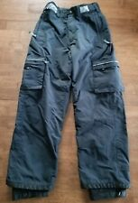 Bonfire Boys Ski Snow Board Pants Size Large 14-16 Black Insulated Waterproof