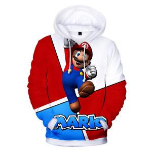Super Mario Bros Hoodie Jumper Gaming Jacket Wii U SNES 3DS RETRO AUS S