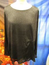 Perfect for Parties! Black Sparkle Chiffon Top by Per Una *UK 22* - A2