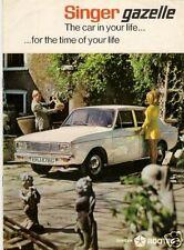 Singer Gazelle 1968-70 UK Market Sales Brochure Arrow