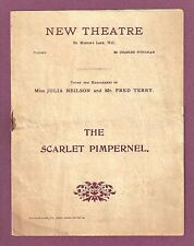 "Julia Neilson ""SCARLET PIMPERNEL"" Fred Terry  / New Theatre 1905 London Program"