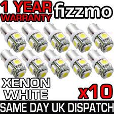 10x 5 SMD LED 233 BA9S T4W A BAIONETTA CAP HID Xenon Bianco Lato Interno Lampadine