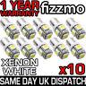 10x 5 SMD LED 233 BA9S T4W BAYONET CAP HID XENON WHITE INTERIOR SIDE LIGHT BULBS