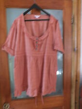 Ladies rust coloured blouse by glamorsa.  Size 18
