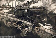 De Jour Art pression 1924 Hans Baluschek Wroclaw Hopkins Feldbahn Locomotive