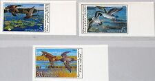 RUSSIA SOWJETUNION 1990 6099-01 U 5906-08 imperforated Ducks Enten Fauna MNH