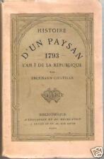 Histoire d'un Paysan L'An I de la République 3e P. Erckmann-Chatrian Hetzel 1869