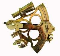 """Antique Brass Sextant Nautical Working Maritime Astrolabe Ships Instruments 8"""""""