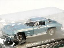 Del Prado Chevrolet Corvette DIECAST azul turismos 1/43 MOC OVP 1308-09-31