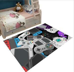3D PlayStation Game Console Buttons Rug Gamer Doormat Home Floor Mat Carpet