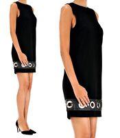 Michael Kors  Kleid mit Leder  schwarz gr 38 , m neu