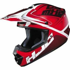 HJC CS-MX 2 Ellusion Helmet - Red/White/Black, XS-XXXL MOTOCROSS ATV